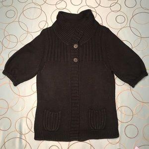 Express Black Short Sleeve Cardigan